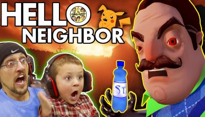 HELLO NEIGHBOR! Scary BASEMENT Mystery Game!  His Secret? Water Bottle Flip Addiction? (FGTEEV Fun)