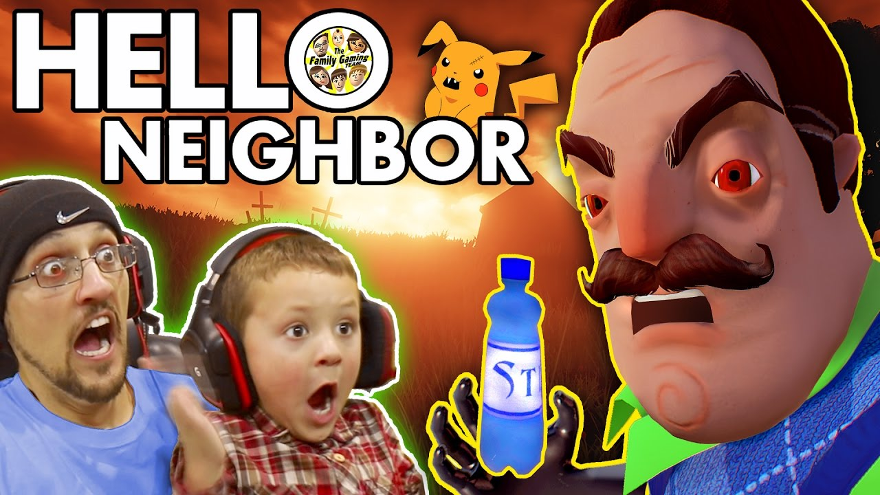Photo of HELLO NEIGHBOR! Scary BASEMENT Mystery Game!  His Secret? Water Bottle Flip Addiction? (FGTEEV Fun)