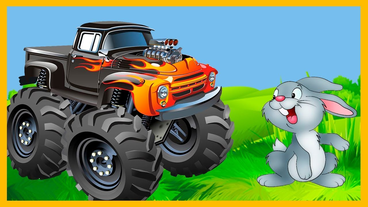 Photo of How to build Red & Blue monster trucks cartoon for kids