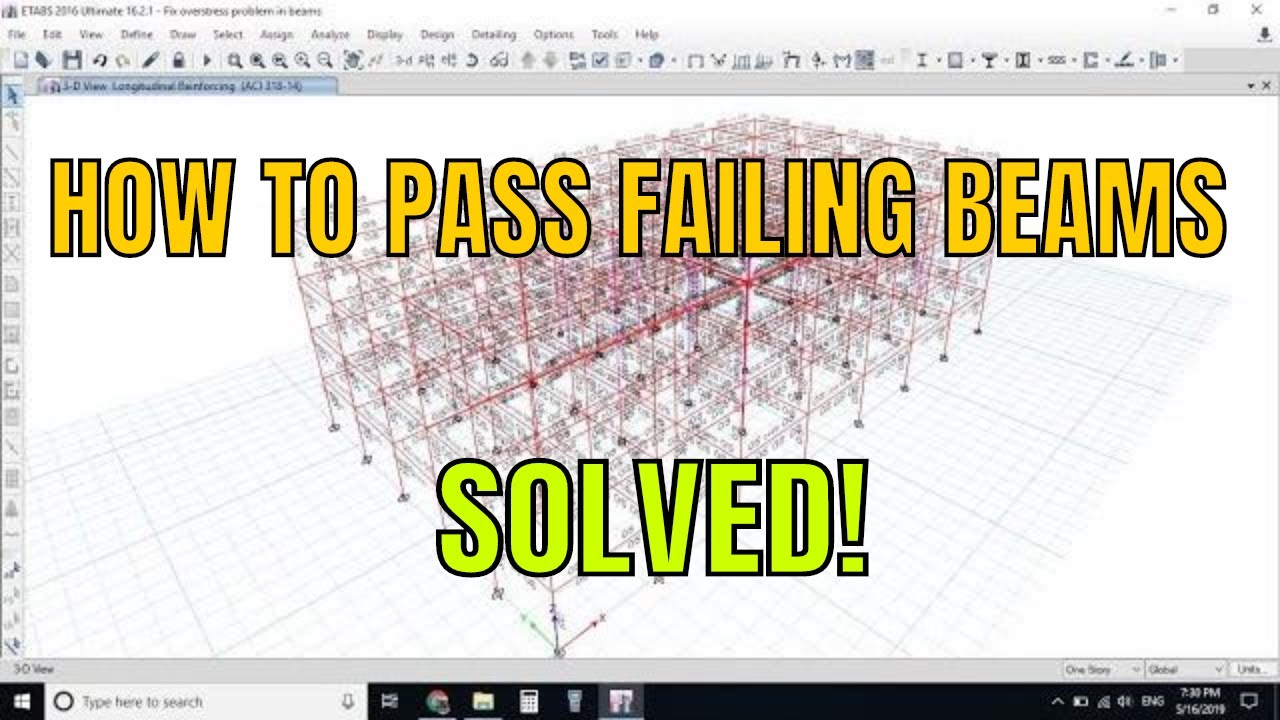Photo of How to pass a Overstressed Beams in etabs tutorial