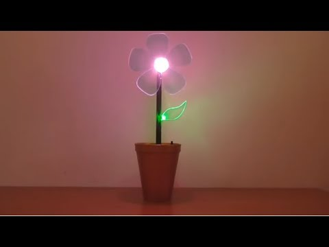 Photo of كيفية جعل زهرة مضيئة للزينة How to make a flower luminous for decoration