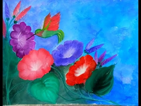 Photo of EASY FLOWER PAINTING acrylic for beginners I acrylic painting tutorial 2019