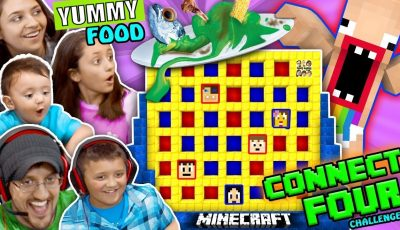 FGTEEV MINECRAFT CONNECT 4 FAMILY GAME NIGHT CHALLENGE! LOSERS EAT WEIRD FOOD COMBINATIONS WAGER