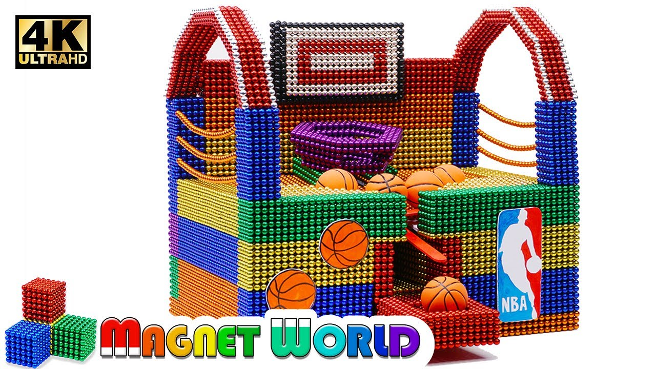 Photo of DIY – How To Make NBA Basketball Board Game From Magnetic Balls ( Satisfying ) | Magnet World 4K