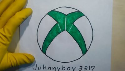How To Draw The Xbox Logo 360 Symbol One Easy ASMR Step By Step for beginners and kids