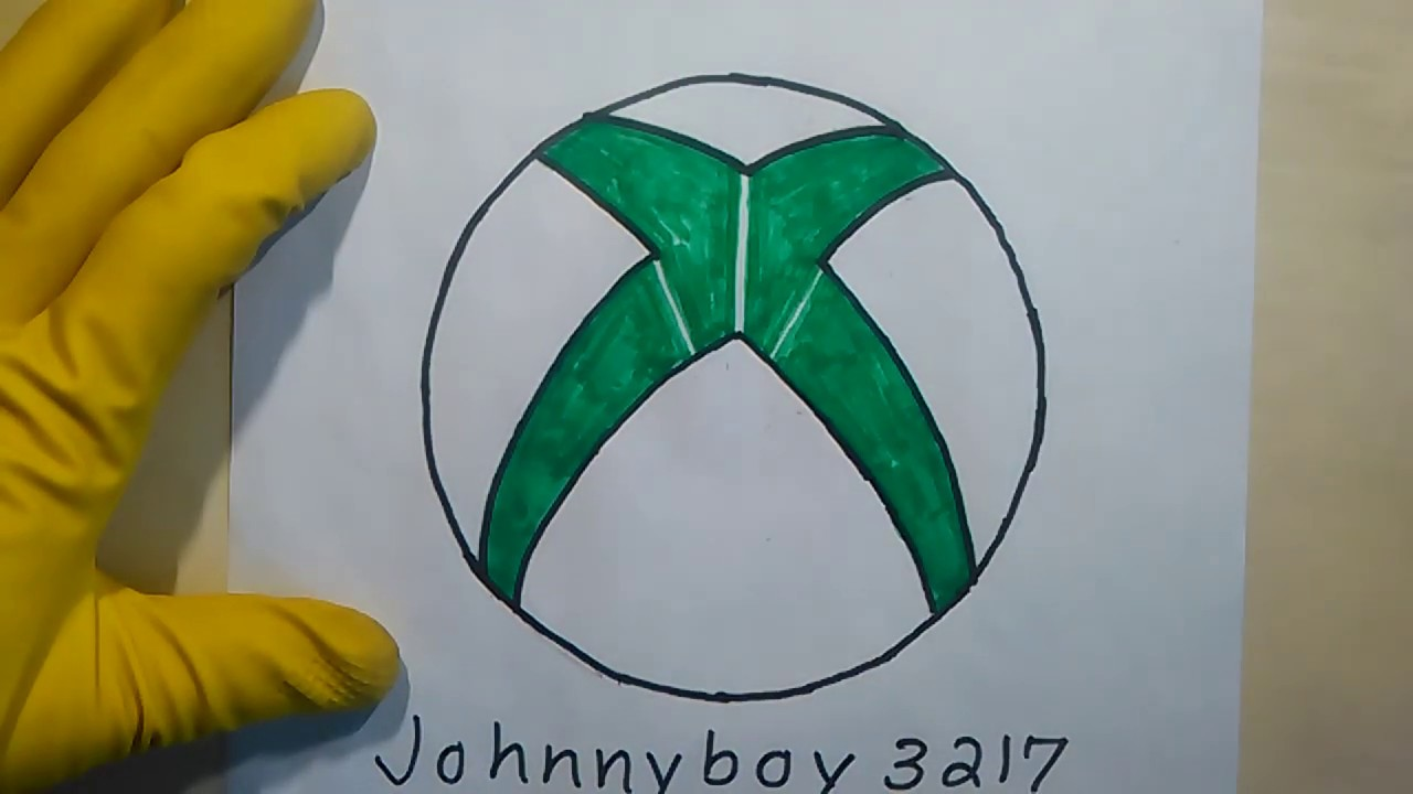 Photo of How To Draw The Xbox Logo 360 Symbol One Easy ASMR Step By Step for beginners and kids