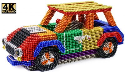 DIY – How To Make Color Mini Cooper From Magnetic Balls ( Satisfying ) | Magnet World 4K