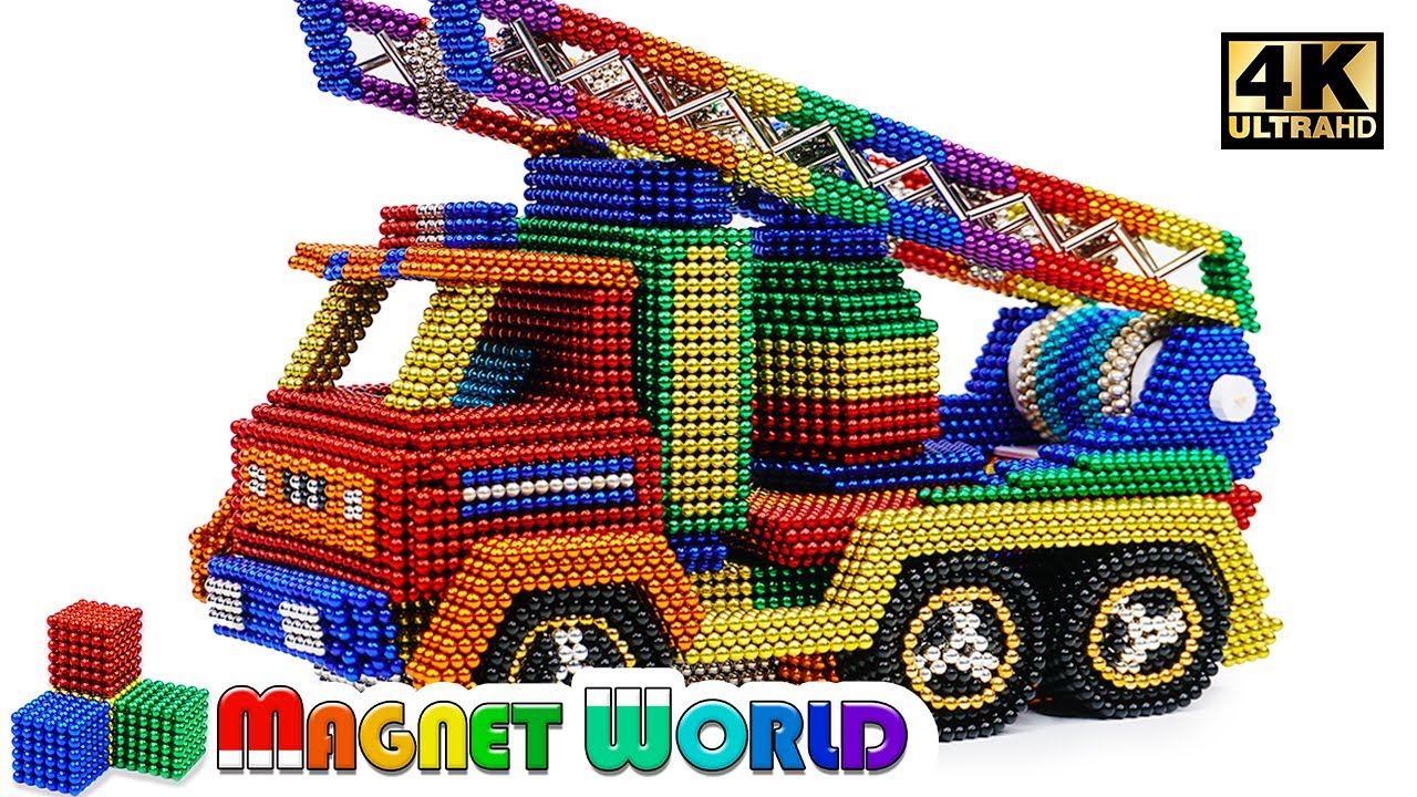 Photo of DIY – How To Make Fire Truck From Magnetic Balls ( Satisfying ) | Magnet World 4K