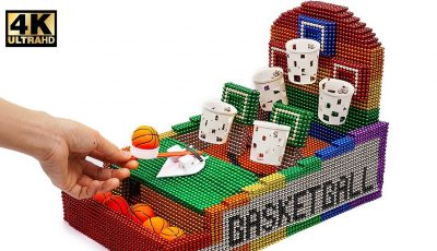DIY – How To Make Basketball Board Game with Magnetic Balls ( Satisfaction 100% ) | Magnet World 4K