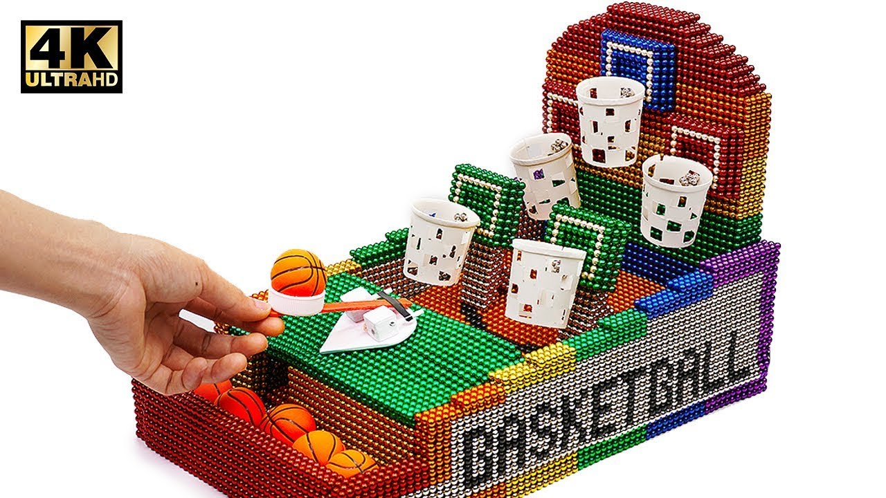 Photo of DIY – How To Make Basketball Board Game with Magnetic Balls ( Satisfaction 100% ) | Magnet World 4K