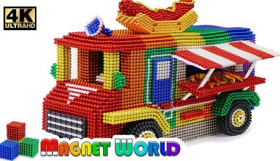 DIY – How To Make Color Fast Food Car From Magnetic Balls ( Satisfying ) | Magnet World 4K