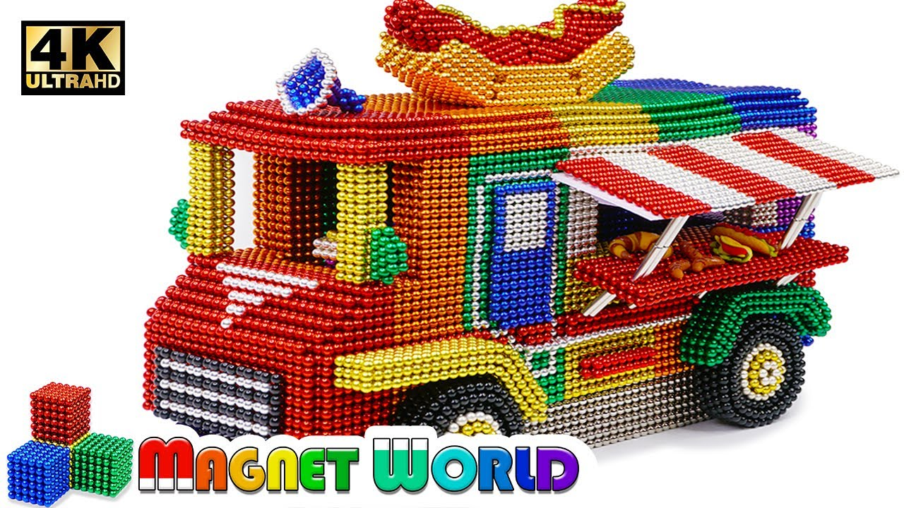 Photo of DIY – How To Make Color Fast Food Car From Magnetic Balls ( Satisfying ) | Magnet World 4K