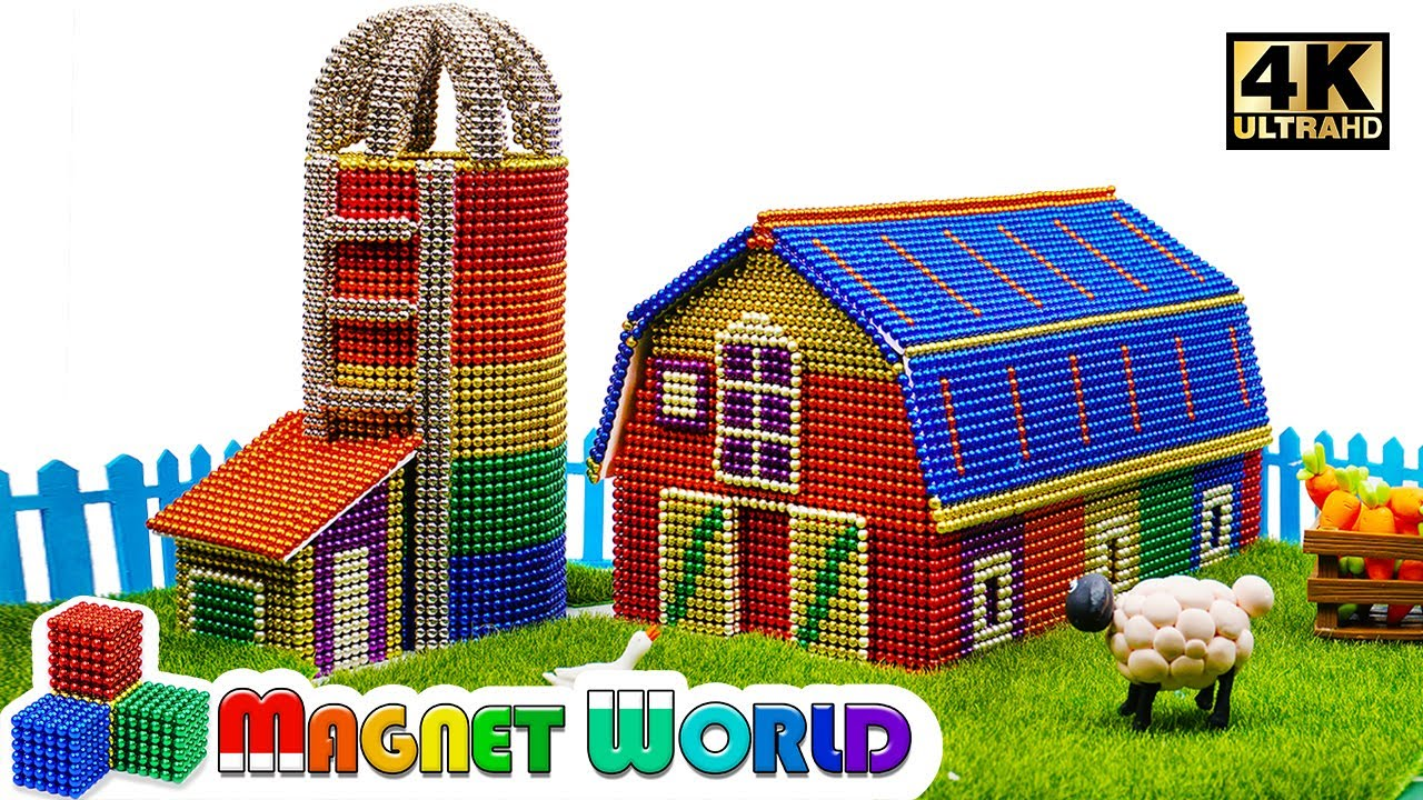 Photo of DIY – How To Build Macdonald Farm From Magnetic Balls ( Satisfying ) | Magnet World 4K