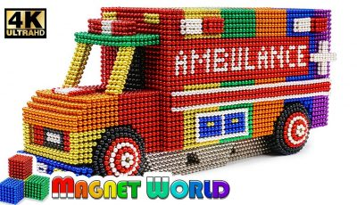 DIY – How To Make Color Ambulance From Magnetic Balls ( Satisfying ) | Magnet World 4K