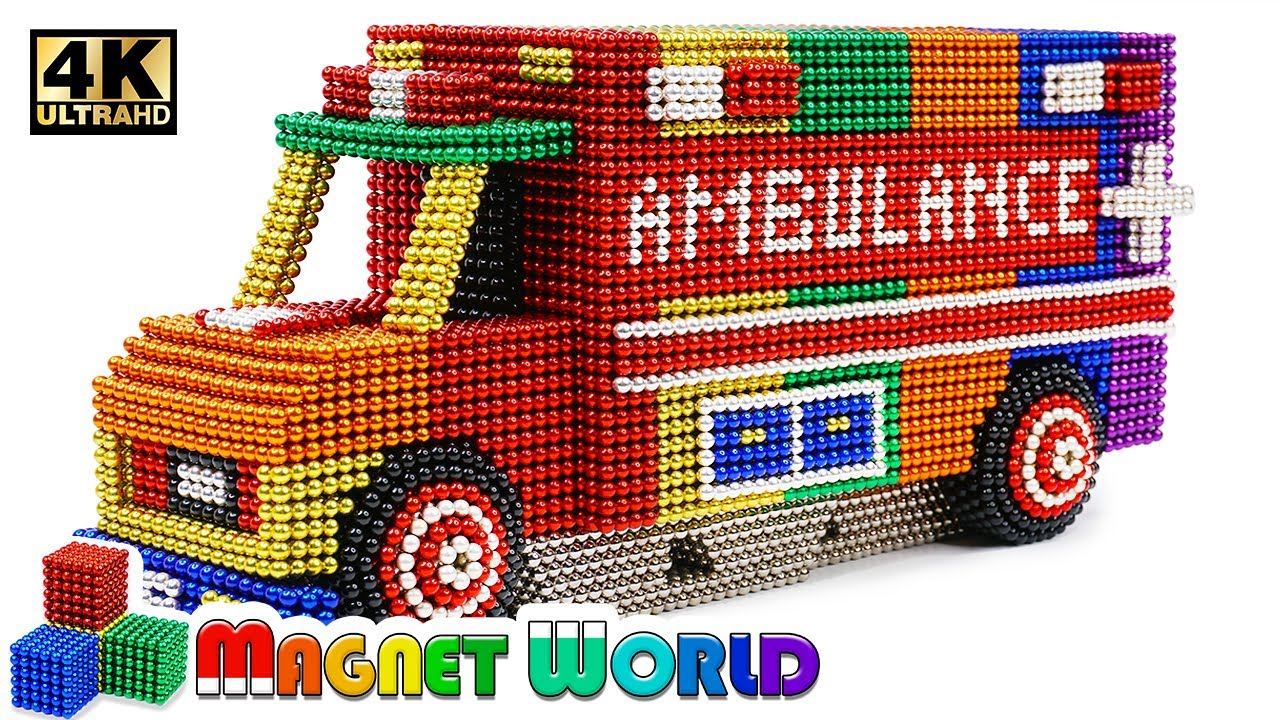 Photo of DIY – How To Make Color Ambulance From Magnetic Balls ( Satisfying ) | Magnet World 4K