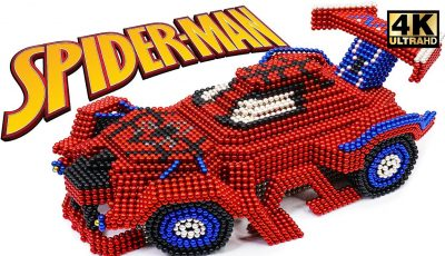 DIY How To Make Spider Man Car From Magnetic Balls ( Satisfaction ) | Magnet World 4K
