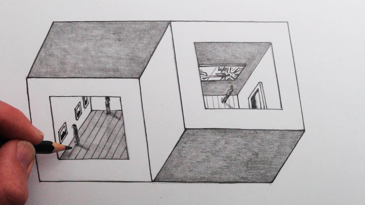 Photo of How to Draw an Optical Illusion: Two Cubes