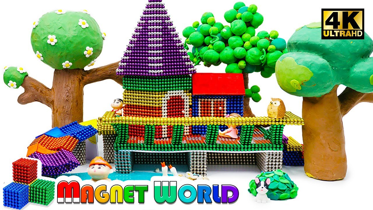 Photo of DIY – How To Build Mini Tree House From Magnetic Balls ( Satisfying ) | Magnet World 4K