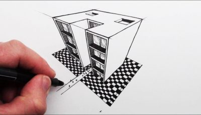 How to Draw using 3-Point Perspective: Simple Buildings