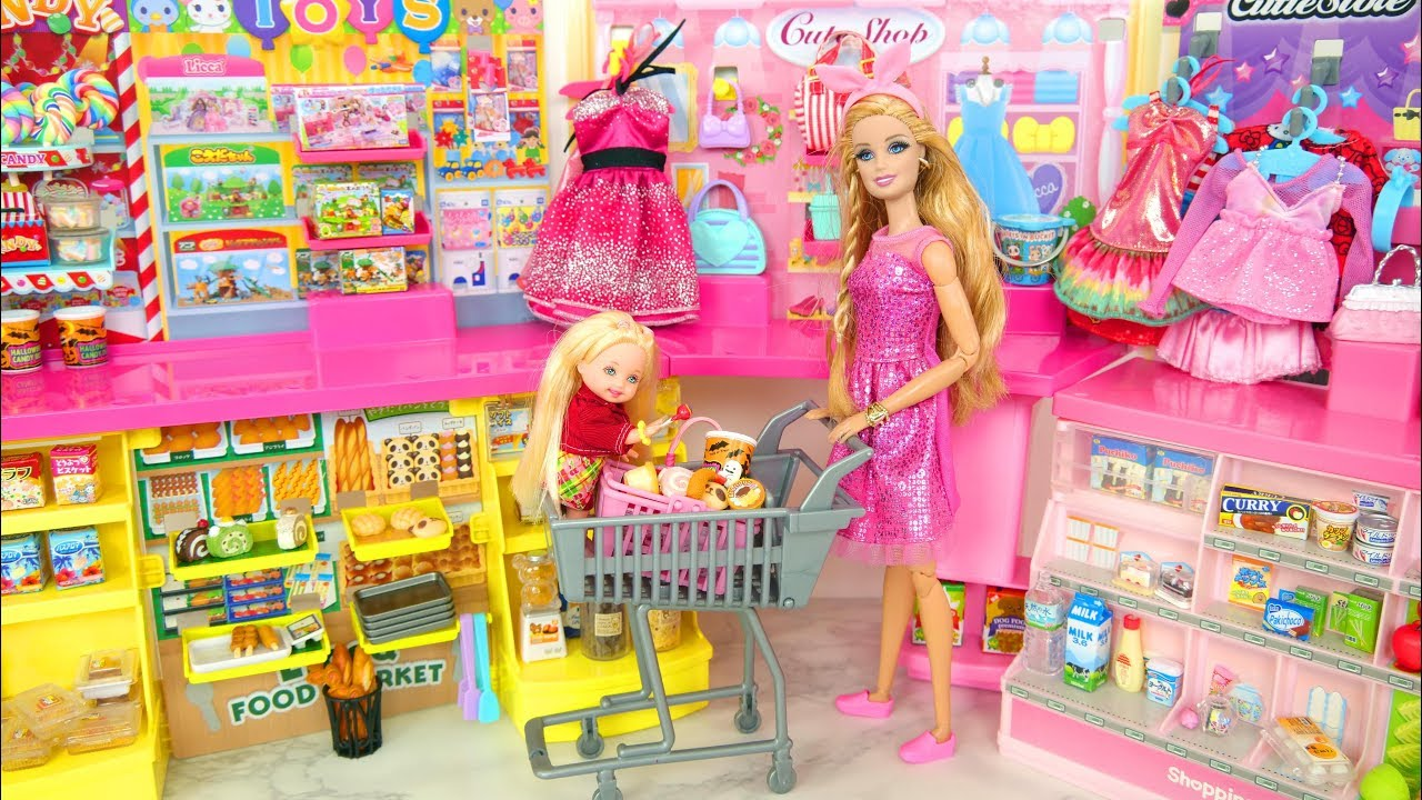 Photo of Doll Shopping Mall with Automatic Escalator Einkaufszentrum Bonecas لعبة باربي Boneka Jouet Poupées