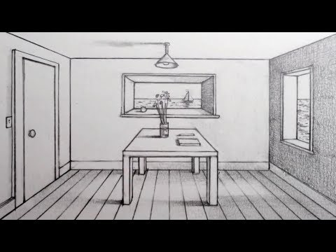 Photo of كيفية رسم غرفه بنقطة تلاشي – How to Draw a Room in 1-Point Perspective