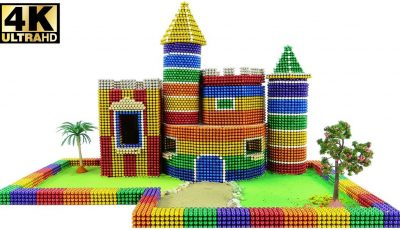 DIY How To Build Germany Castle Has Playground With Magnetic Balls | Mr Balls Magnet 4K