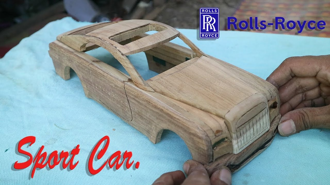 "Photo of How to make a miniature wooden ""ROLLS ROYCE ."""