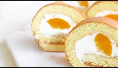 How to make delicious peach roll cake
