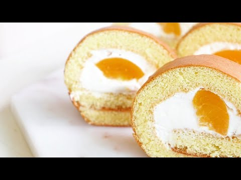 Photo of How to make delicious peach roll cake