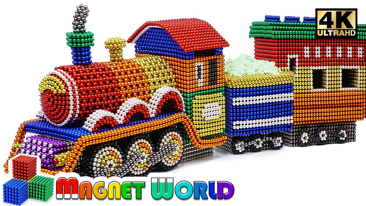 Photo of DIY – How To Make Colored Harry Potter Train From Magnetic Balls ( Satisfying ) | Magnet World 4K