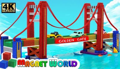 DIY – How To Build Amazing Golden Gate Bridge From Magnetic Balls ( Satisfying ) | Magnet World 4K