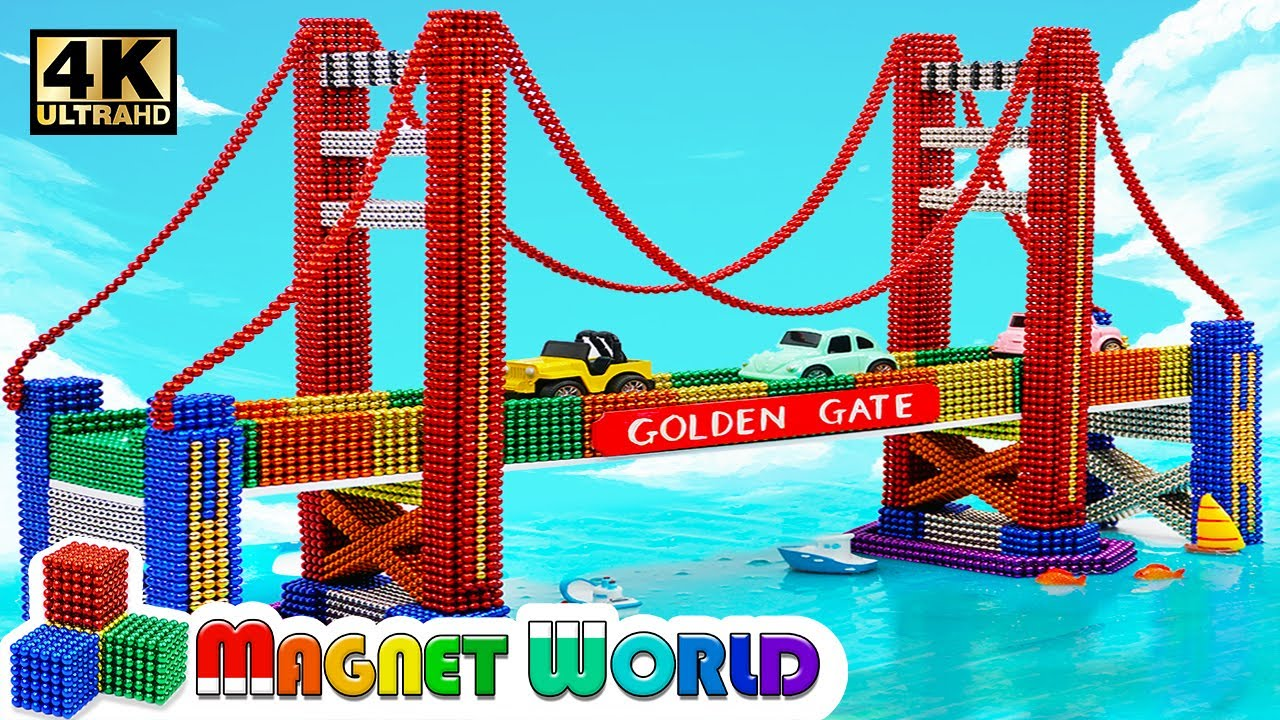 Photo of DIY – How To Build Amazing Golden Gate Bridge From Magnetic Balls ( Satisfying ) | Magnet World 4K
