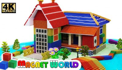 DIY – How To Build Rainbow House, River Around From Magnetic Balls ( Satisfying ) | Magnet World 4K