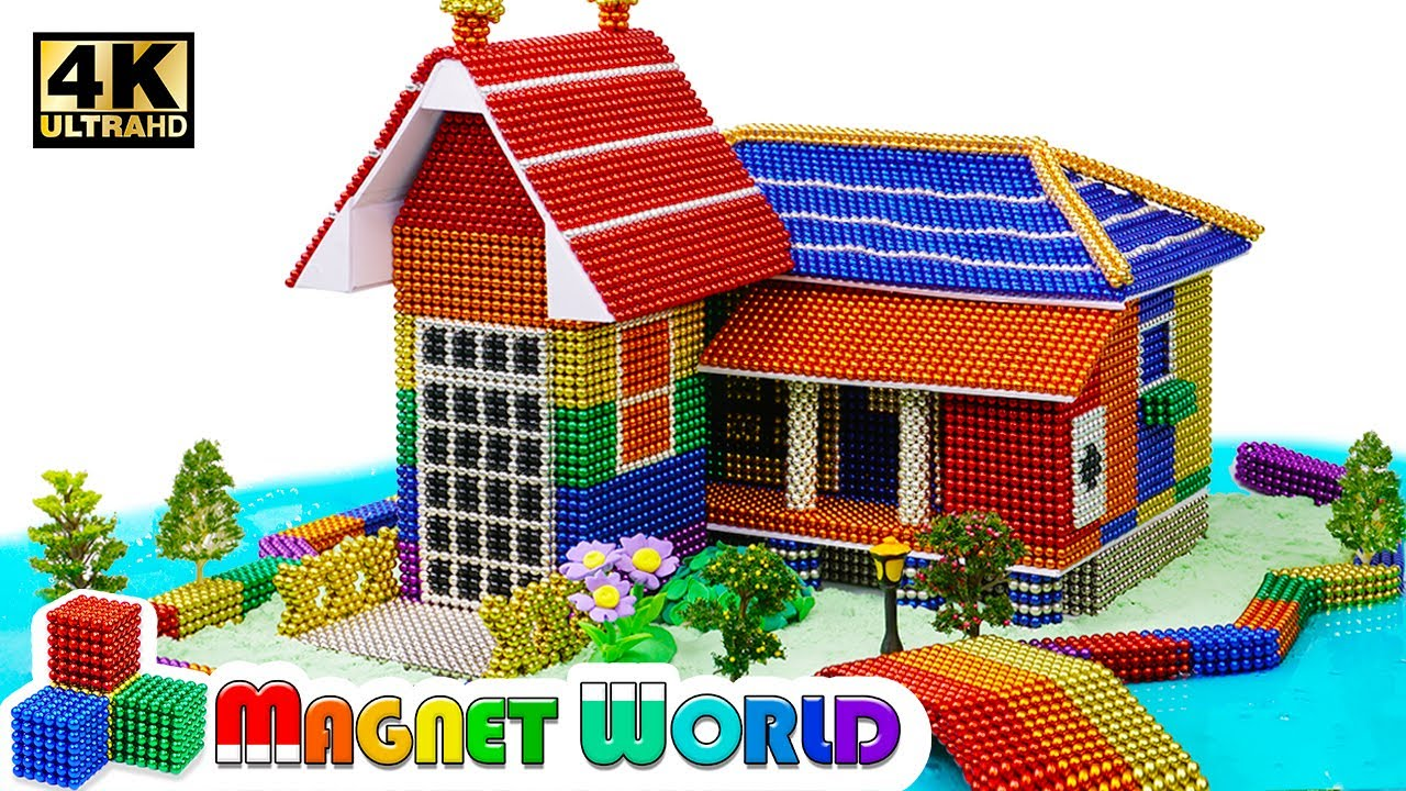 Photo of DIY – How To Build Rainbow House, River Around From Magnetic Balls ( Satisfying ) | Magnet World 4K