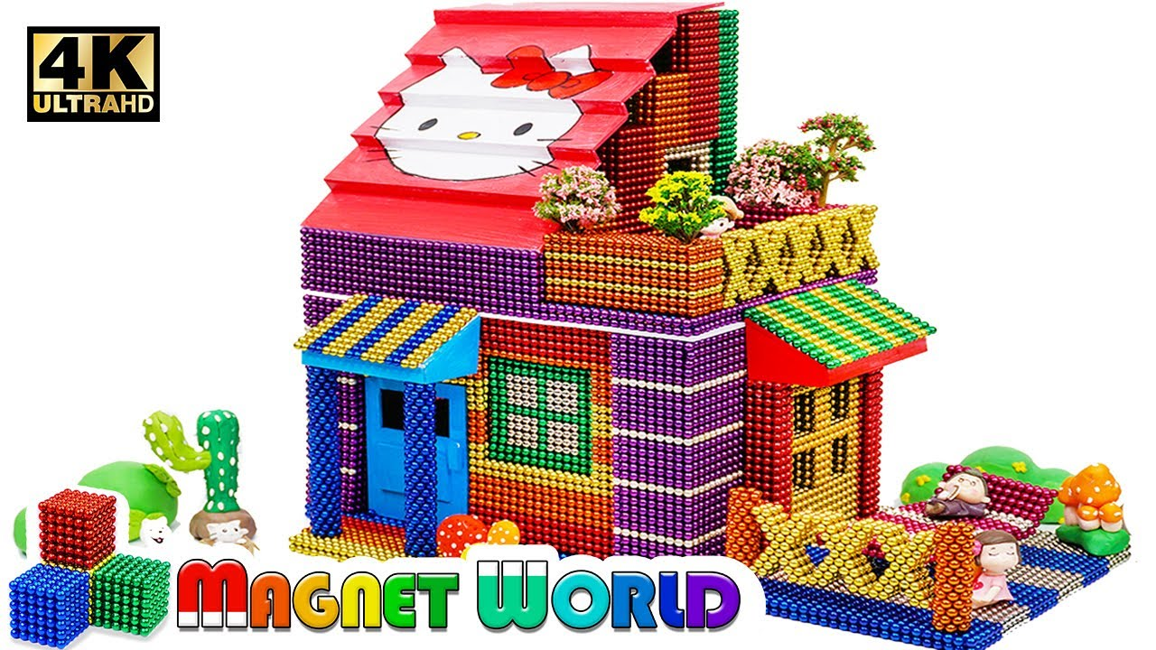 Photo of DIY – How To Build Colored Hello Kitty House From Magnetic Balls ( Satisfying ) | Magnet World 4K
