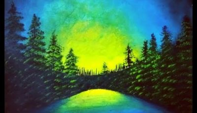 HOW TO PAINT beautiful Nature Scenery ACRYLIC painting tutorial for beginners