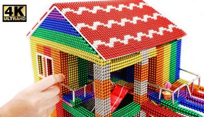 DIY – How To Build Mini House Model From 100000 Magnetic Balls ( Satisfying ) | Magnet World 4K