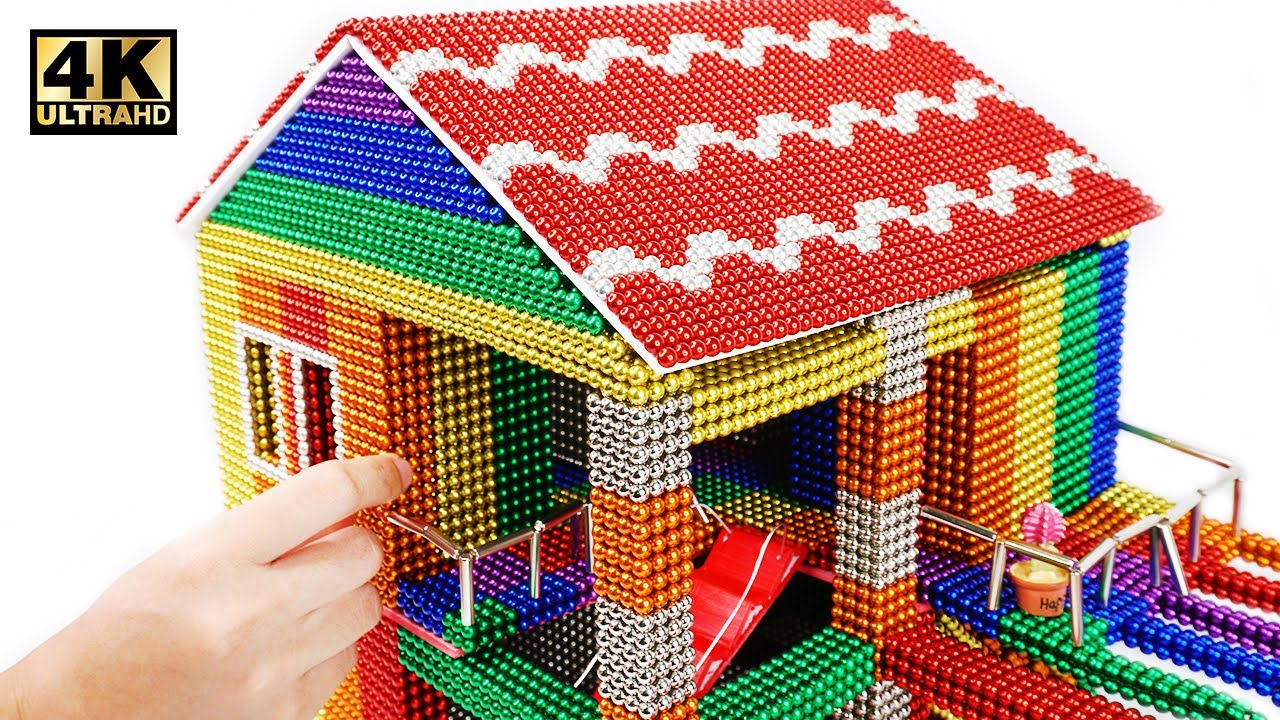 Photo of DIY – How To Build Mini House Model From 100000 Magnetic Balls ( Satisfying ) | Magnet World 4K