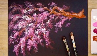How to paint a tree in acrylic / Simple painting techniques