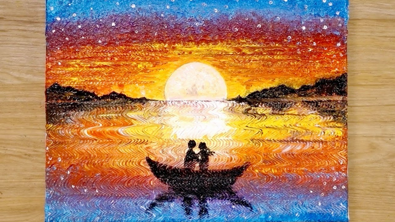 Photo of Aluminum painting techniques / How to draw a couple on boat