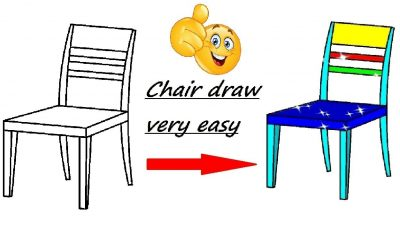 How to draw a chair, very easy for beginners