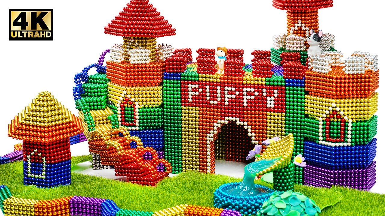 Photo of DIY – How To Build Castle Mud Dog House From Magnetic Balls ( Satisfying ) | Magnet World 4K