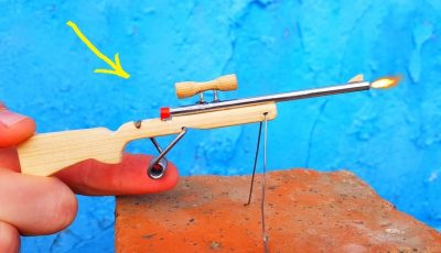 Making a Mini Sniper Rifle | Single Shot Plastic Disc Cap Rifle
