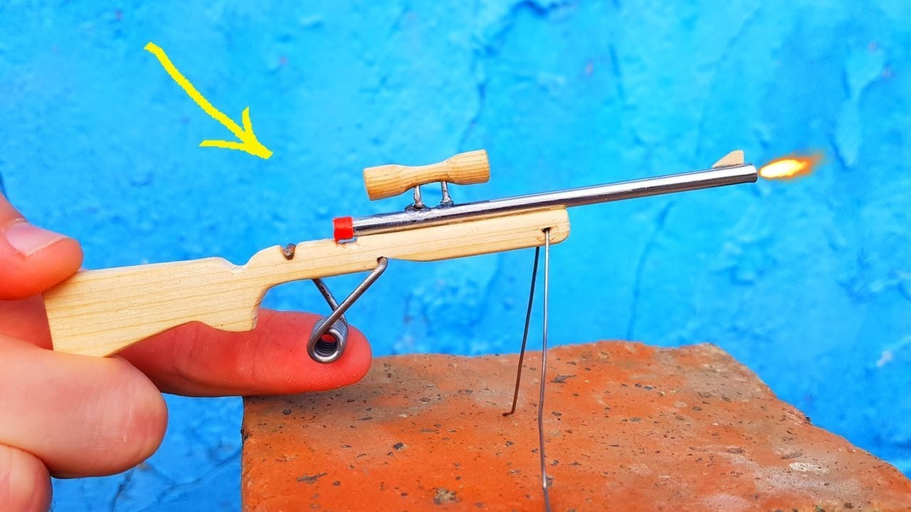 Photo of Making a Mini Sniper Rifle | Single Shot Plastic Disc Cap Rifle