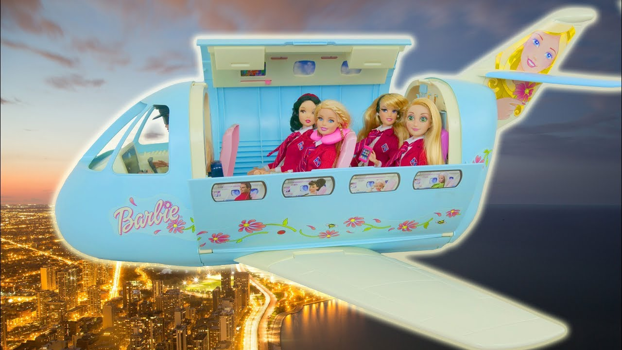 Photo of Barbie Super Airplane Unboxing Avião Flugzeug لعبة باربي Avion Pesawat terbang
