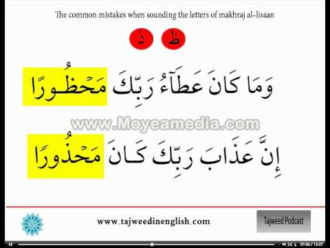 Photo of 16/16 Tajweed in English –  The tongue makhraj ( ظ – ذ – ث )