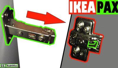 How to clip on Ikea Pax Wardrobe Hinges